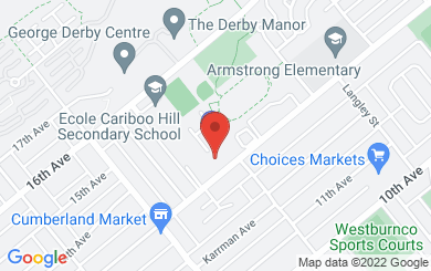 Map to Anchor Baptist Church in Burnaby, British Columbia